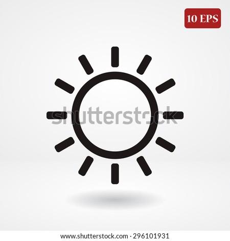 sun line vector icon - stock vector