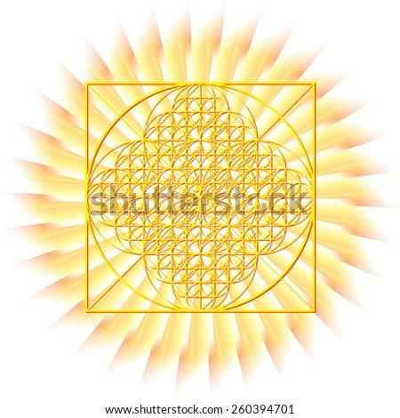 Sun matrix. Sunburst rays of sunlight tenplate. Abstract summer  - stock vector