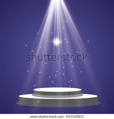 Sun rays, beams on transparent background. Vector illustration.