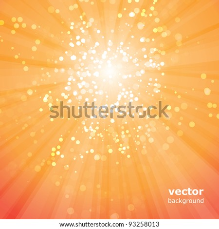 Sun Rays with Bubbles Vector - stock vector