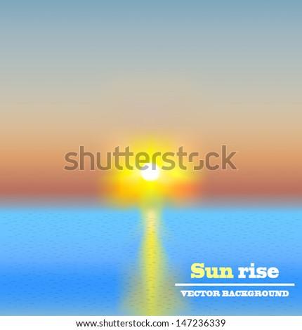 sun rise background vector - stock vector