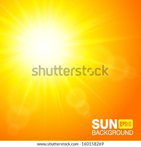 Sun square background, vector illustration.