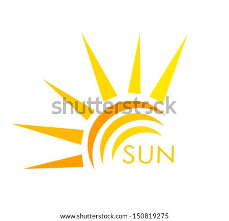 Sun symbol. Abstract vector illustration - stock vector
