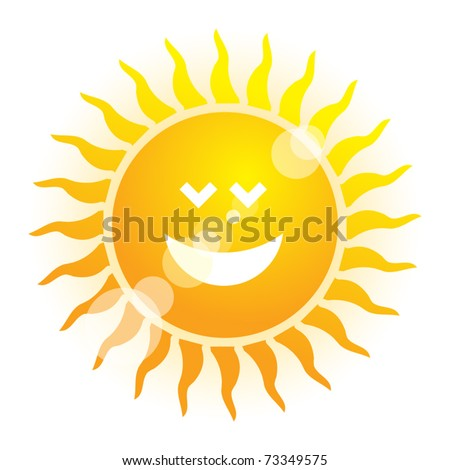 Sun symbol, vector illustration - stock vector