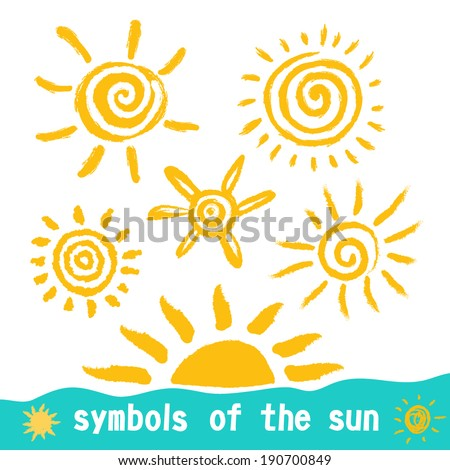 Sun symbols for your design. - stock vector