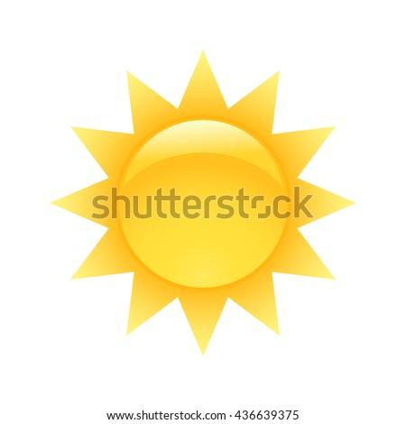 Sun vector - stock vector