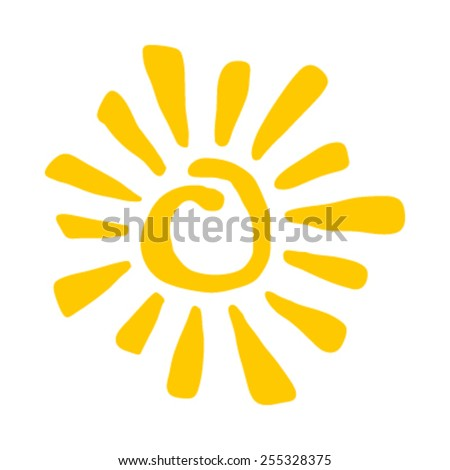 Sun Vector Icon - stock vector