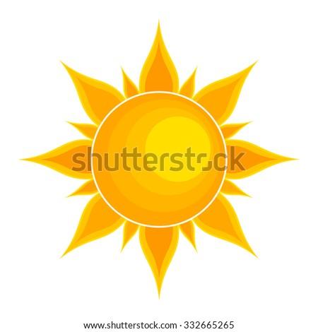 Sun. Vector illustration - stock vector