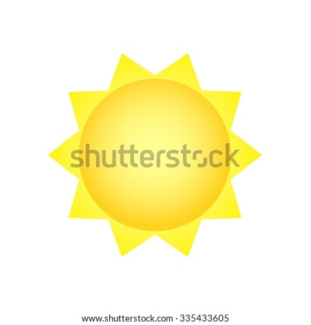 Sun vector illustration - stock vector