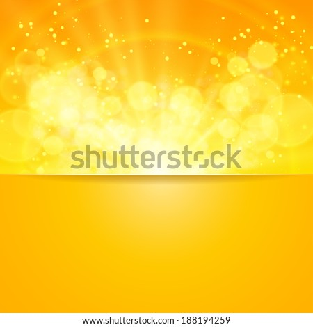 Sun with lens flare,  Vector illustration. - stock vector