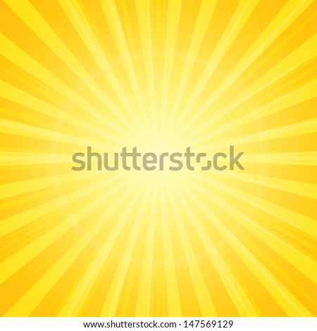 sun with rays star burst television vintage background - stock vector