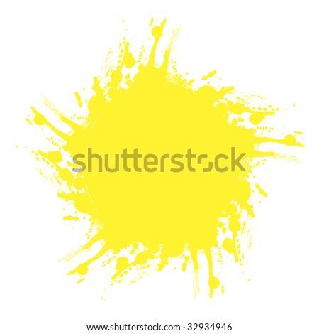 sun yellow splash - stock vector