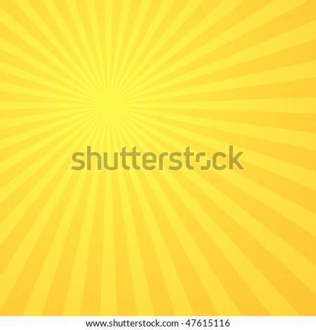 Sunburst abstract background - stock vector