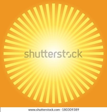 Sunburst abstract, vector illustration - stock vector