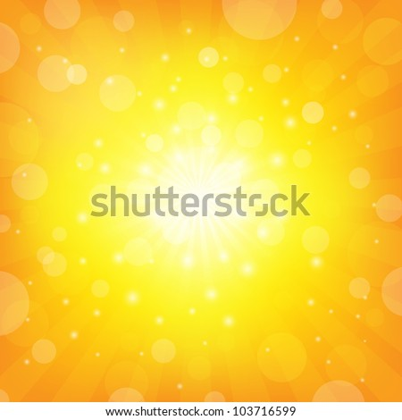 Sunburst Background Shiny background, Vector Illustration - stock vector