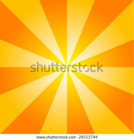 Sunburst Background Vector. - stock vector