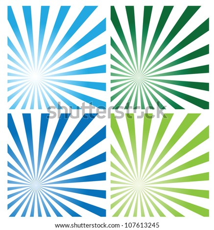sunburst background, vector format. Easy to edit with different sizes. - stock vector