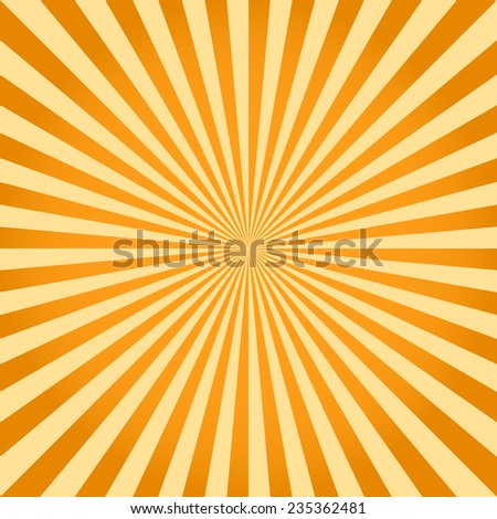 Sunburst pattern, ray background television vintage, yellow retro round lines - vector illustration fully editable, you can change form and color - stock vector