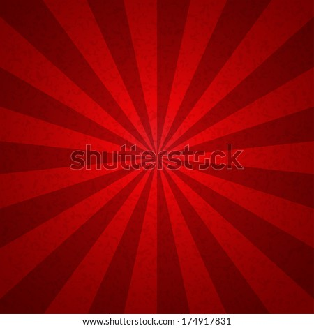 Sunburst Red tone Vintage  Pattern Background. Vector illustration - stock vector