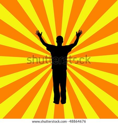 Sunburst Success - stock vector