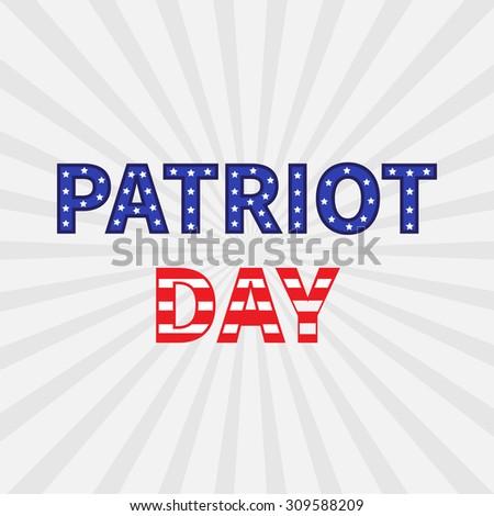 Sunburst with ray of light. Patriot Day background flat design Vector illustration - stock vector