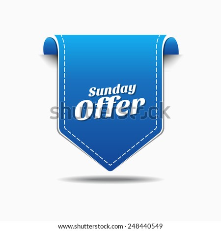Sunday Offer Blue Vector Icon Design