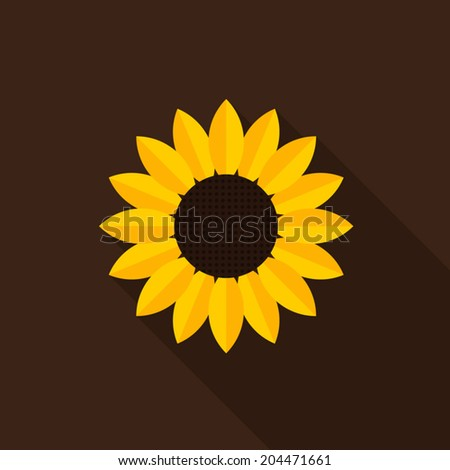 Sunflower icon - Vector - stock vector