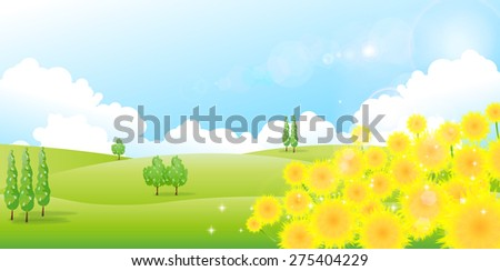 Sunflower sky background
