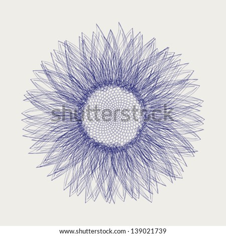 Sunflower vector sketch - stock vector