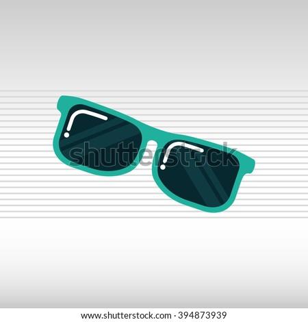 sunglass  icon  design  - stock vector