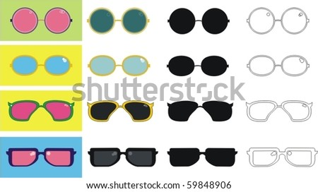 sunglasses - stock vector