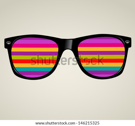 sunglasses abstract . vector illustration background  - stock vector