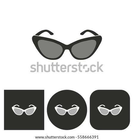 Sunglasses Logo Black And White Shutter Sunglas...