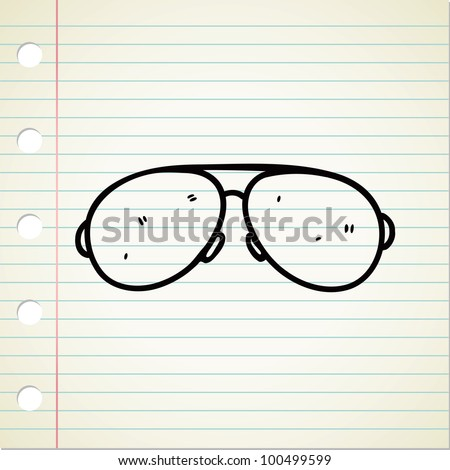 sunglasses doodle - stock vector