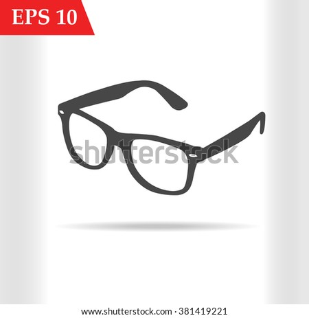 Sunglasses hipster icon on white background vector illustration.Sunglasses hipster jpg.Sunglasses hipster picture.Sunglasses hipster eps 10.Sunglasses hipster stock vector - stock vector