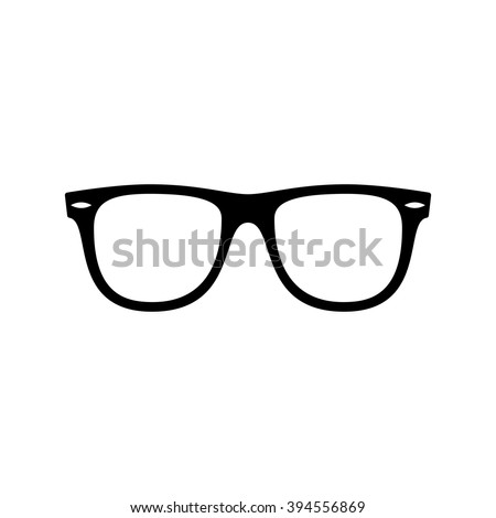 Sunglasses icon. Black icon isolated on white background. Sunglasses silhouette. Simple icon. Web site page and mobile app design element. - stock vector