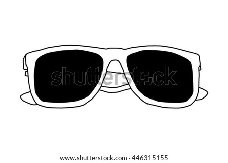 Sunglasses sktech icon
