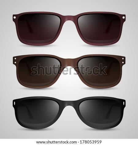 Sunglasses. Vector - stock vector