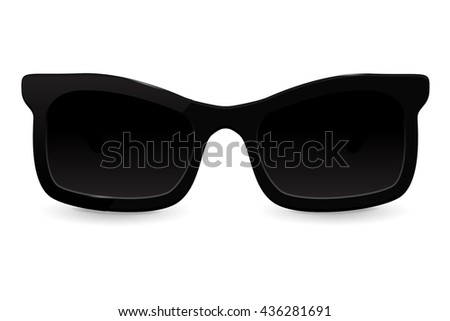 Sunglasses. Vector illustration isolated on white background
