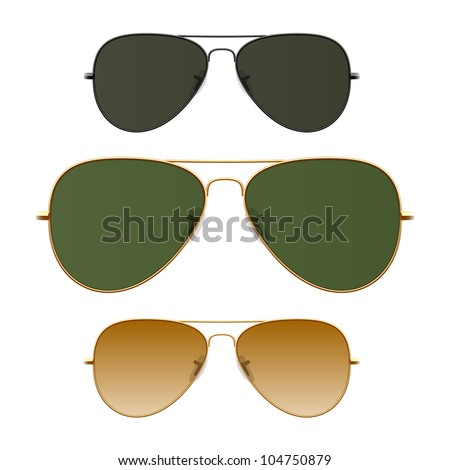 Sunglasses. Vector. Just place on face. - stock vector