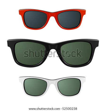 Sunglasses. Vector. Just place on face and make glass with Multiply mode. - stock vector