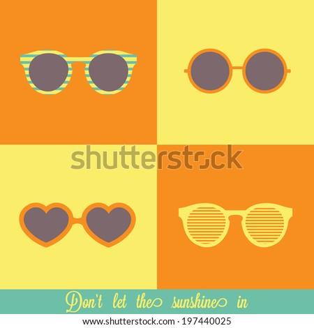 Sunglasses vector set - stock vector