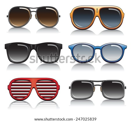 Sunglasses Vector Set - stock vector