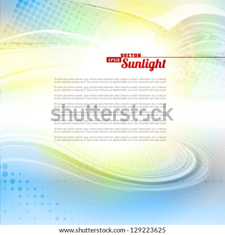 Sunlight. Abstract artistic background. Vector - stock vector