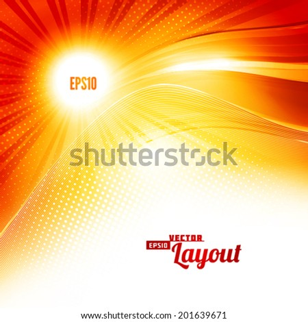 Sunlight. Artistic background. Vector - stock vector