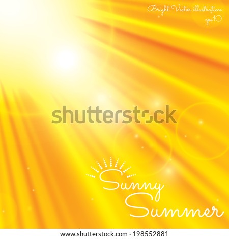 Sunny abstract background. Enjoy the summer - stock vector