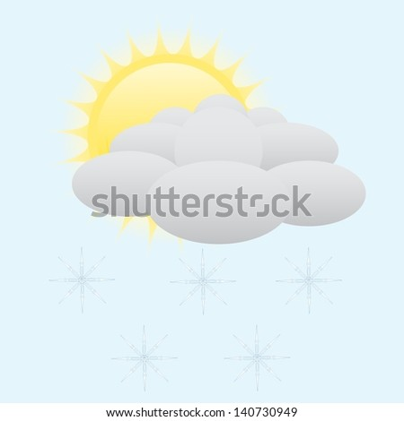 Sunny and snow weather icon