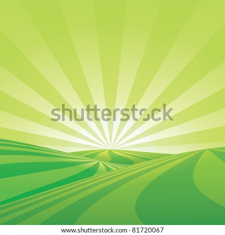 Sunny background - stock vector