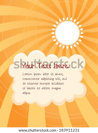 sunny day cartoon background, suitable for children illustration