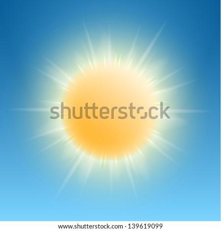 Sunny icon - eps10 - stock vector